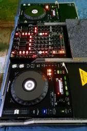 CDJ 850K PIONEER, MIXER BEHRINGER Nox606 6 Canais e SERATO SL4