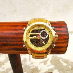 Relógio Naviforce Dourado Resistente