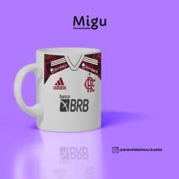 Caneca do Flamengo Personalizada Modelo 2021/2022 / xícara copo rubro negro mengão