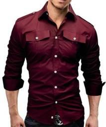 Camisa Social Casual Slim Fit em Atacado Camisas Masculinas Para Revenda