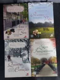 Quatro livros da autora Emily Giffin