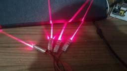 Lase linear vermelho 5V (pode usar com pilha ou com fonte)