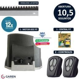 Portão Deslizante Motor Garen Kdz Fit 12x de R$ 57,99 (Instalação Inclusa)