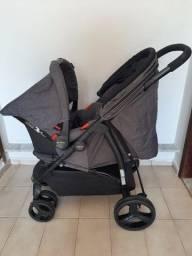 Carrinho e bebê conforto Cosco Travel System Nexus - Poá (unissex)