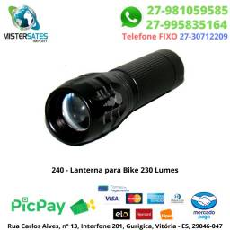240 - Lanterna para Bike 230 Lumes<br><br>