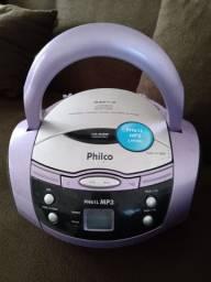 Som MP3 semi novo-Philco