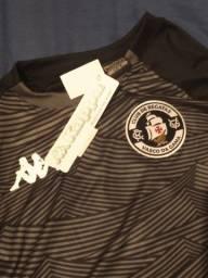 Camisa Kappa Personalizada Vasco Aquecimento Tormenta - Preto