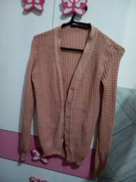 Casaco de tricô.