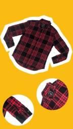 Camisa Xadrez Vermelha e Preta - Fabric Goods
