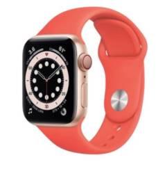 Apple Watch Customizado S6 40mm GPS + CEL Aluminio Gold + Sport Band Pink Citrus