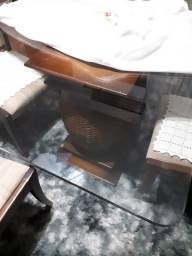 Mesa tampo vidro