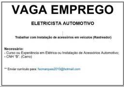 Vaga emprego - eletricista automotivo