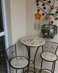 Conjunto mesa bistro mosaico sob medida