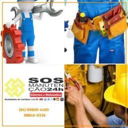 Sos manutenção 24h elétrica e hidráulica