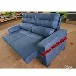 Sofa retratil e reclinável valor promocional + frete gratis