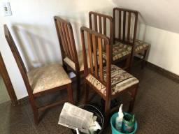 Cadeiras jogo com 5