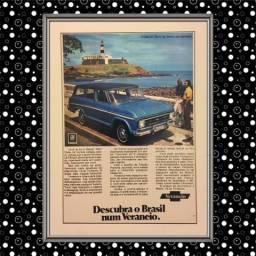 Poster Retrô Carros Chevrolet Vintage Cartaz Antigo Decoração