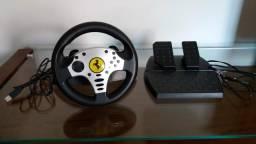Volante e Pedaleira Ferrari Thrustmaster Para PS3 ou PC