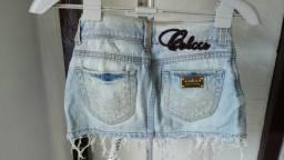 Saia jeans colcci