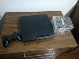 Vendo Playstation 3, controle, cabos, mais jogos
