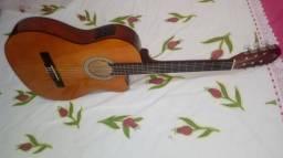 Violão Giannini Eletroarcústico com Afinador, cordas de Nylon