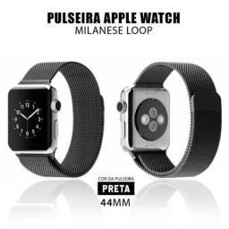 Pulseira Relógio Apple Watch Estilo Milanês 44mm Series Smartwatch