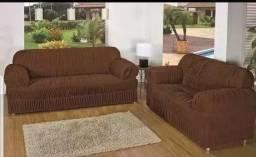 Capa para sofá de 3 e 2 lugares