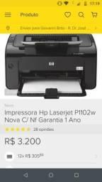 Impressora hp laser jef p1102w