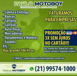 Motoboy - Paulo Motoboy Confiança e Credibilidade