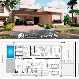 Residência de alto padrão, com o estilo Moderno, localizada no Condomínio Ecoville