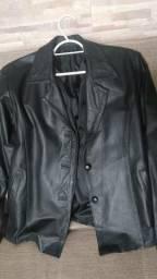 Jaqueta de couro veste P e M