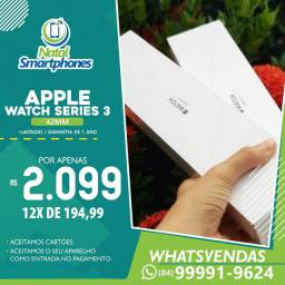(PRETO/BRANCO) - Apple Watch Serie 3 ( 42MM -GPS LACRADO - GARANTIA 365 DIAS )