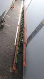 Escada fibra, nr10, 10,80m.