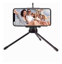 Título do anúncio: Mini Tripé de Mesa Regulável Para Câmeras e Celulares Suporte Universal Novo na Caixa