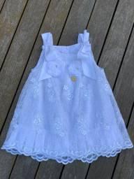 Vestido infantil branco Gira Baby
