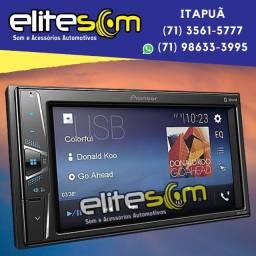 Central Multimídia Receiver Pioneer Mvh-g218bt Bluetooth Usb Aux instalada na Elite Som