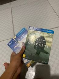 Jogos Ps4 shadow of the colossus e horizon  zero down