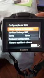 Máquina fotográfica profissional com nota fiscal