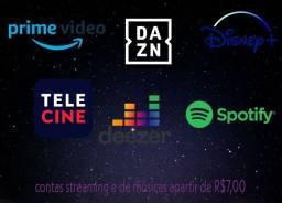 spotify, Disney plus, Amazon prime, Telecine