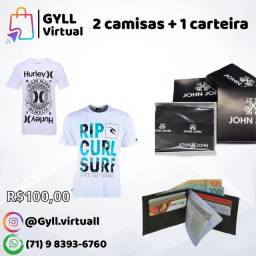 Kit camisetas + Carteira