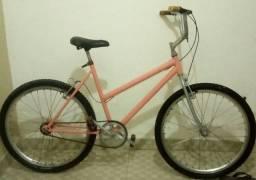 Bike aro 26 feminina,jante aério,cubo c/rolamento, raio inox.toda pronta pra usar.