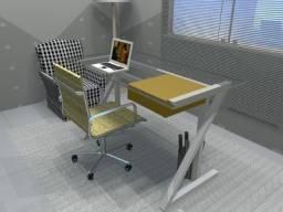 Mesa de Escritório, em Madeira Maciça. Vendas só através do Whatsapp Abaixo