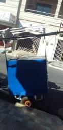Carro azul pra lanche com engate pra moto ou carro