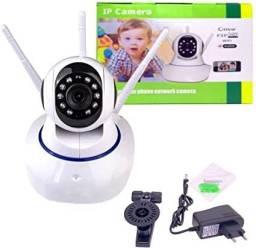 Câmera Ip 3 Antenas Wifi Wireless