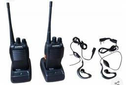 Rádio comunicador duplo walk talk baofeng bf 777s+ fone de ouvido