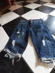 Bermuda jeans tamanho 16