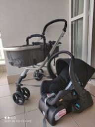 Carrinho de Bebê Moisés Tessy Galzerano 3 rodas + bebê conforto + base