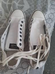 Sapato ostar de couro branco
