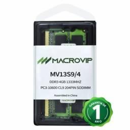 Título do anúncio: Memória DDR3 1333mhz 4gb notebook