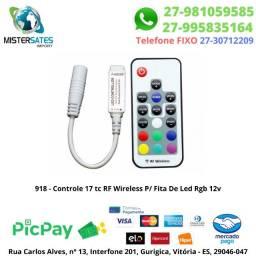 918 - Promoção - Controle 17 tc RF Wireless P/ Fita De Led Rgb 12v
